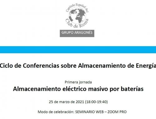 Jornada Almacenamiento Eléctrico Masivo por Baterías