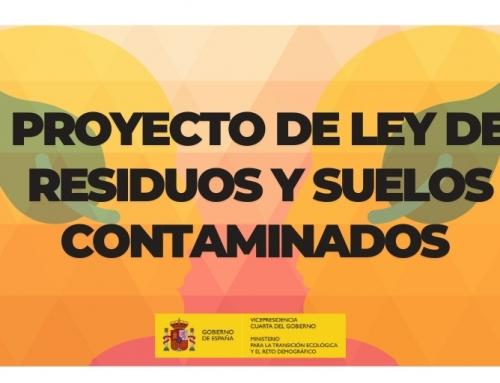 El Gobierno remite a las Cortes el proyecto de Ley de Residuos y Suelos Contaminados para impulsar una economía circular y baja en carbono